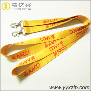 single layer embroidery cheap designer jacquard lanyard