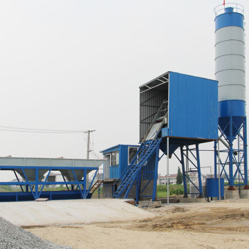 25m3/h small stationary concrete batching plant
