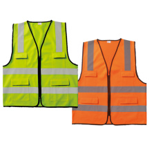 High visibility safety cloth with zipper