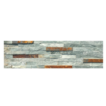 Colorful Water Flow Slate Stacked Stone Cladding