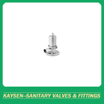Sanitary clamped tank bottom valves