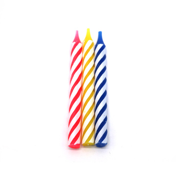 Colorful Spiral Birthday Candles Multi Pack Cake Candles