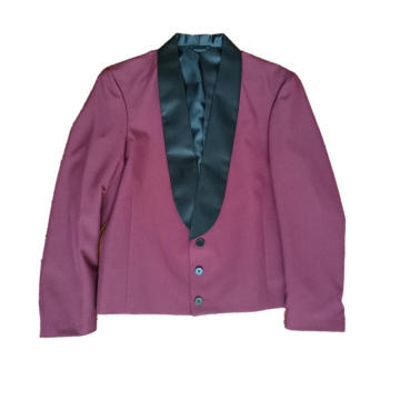 Men's working suits blazer with satin