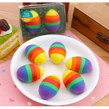 COLORFUL RAINBOW EGG ERASER-0