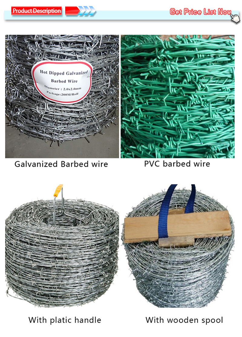 pvc coated barb wire fence