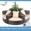 Garden Furniture round rattan sofa Set outdoor sectional
