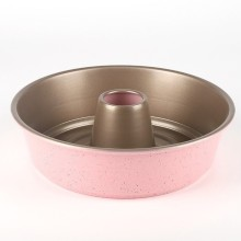 "9"" Aluminium Alloy Angel Food Cake Pan-Pink"