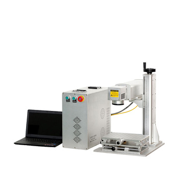 Portable 30W fiber laser marking machine with rotary