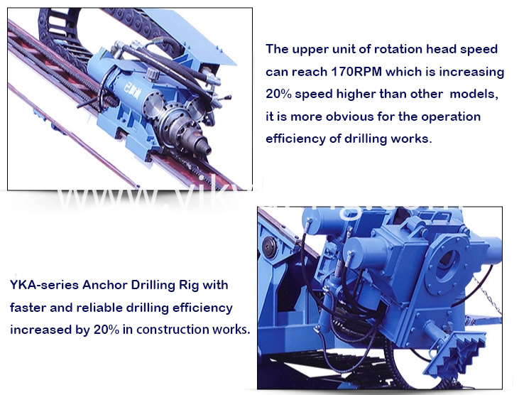 Multifunctional slope anchor hydraulic drilling rig machine product details 1