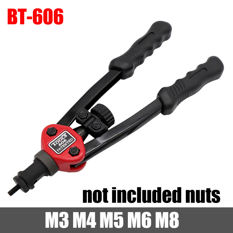 HIFESON High Quality Rivet Nut Tool Insert Manual Riveter Threaded Nut Riveting Rivnut Tool for Nuts M3 M4 M5 M6 M8 M10 M12
