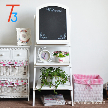 display shelf blackboard wood rack flower holder with chalkboard