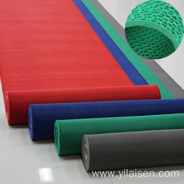 Plastic material bathroom hollow style pvc mat