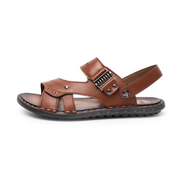 Adult Outdoor Leather Slippers and Sandals