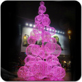 Pink 8m christmas tree with led ball