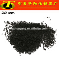 Pelleted activated carbon for desulfurization