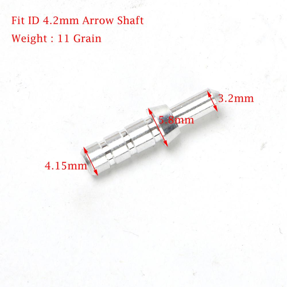 60pcs/lot Archery Aluminum Nock Pin for Arrow Shaft ID 3.2mm 4.2mm 6.2mm for Nock ID 3.2 mm Compound Recurve Bow Longbow Arrows