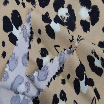 Printed Rayon Plain Cloth With Cat'S Head Pattern