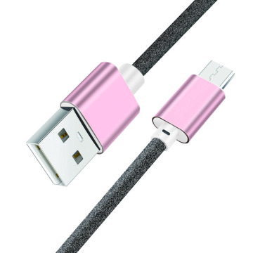 USB2.0 high quality Colorful Rainbow usb data cable for iphone data usb cable