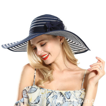Sexy lady gored hat large brim straw hat