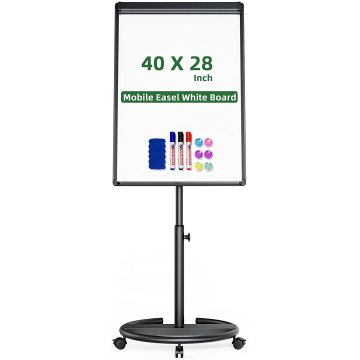 36x24 inches Mobile Whiteboard with Stands Adjustable Easel