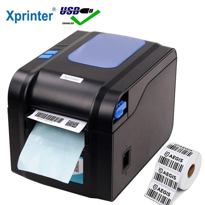 Xprinter Label Barcode Printer Thermal Receipt Label Printer Bar Code QR Code Sticker Machine 20mm-80mm Auto Stripping 370B