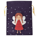 Christmas sack with dancing angel pattern