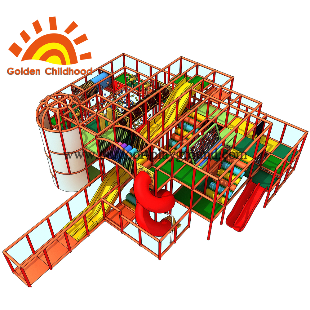 Indoor Playground Frame For Children Play