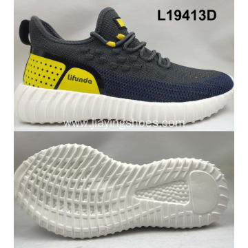 Mens Breathable soft flyknit sport shoes