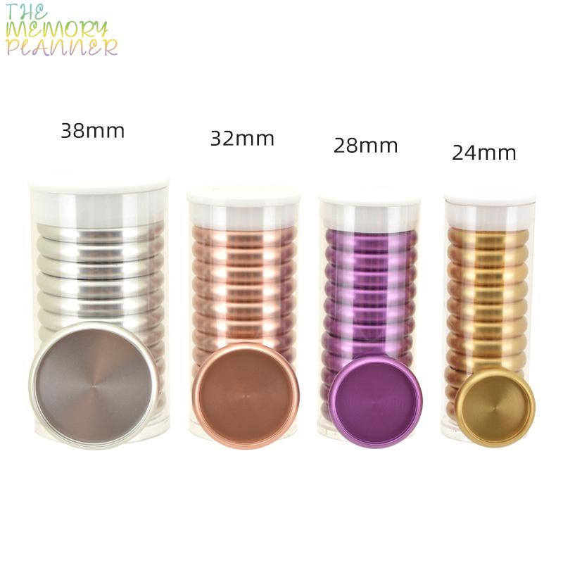 11pcs 28mm Metal Ring Binder Mushroom Hole Loose-leaf Rings Notebook Accessories Binding Ring Metal Disc Binding Planner Rings