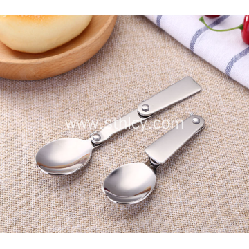 Stainless Steel Folding Small Spoon With Plastic Box