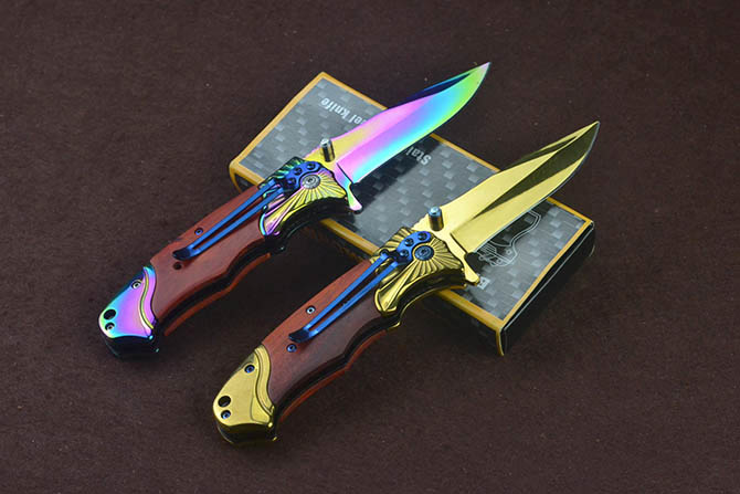 Titanium Portable Folding Pocket Knife med Clip