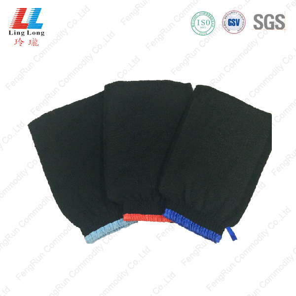 best Black Exfoliating bath Gloves wholesale