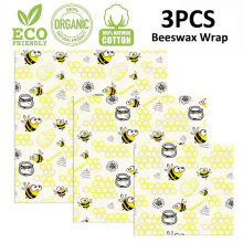 Zero Waste Reusable Storage Wrap Sustainable Organic Cheese Food Wrapping Paper BPA & Plastic Free Beeswax Food Wrap