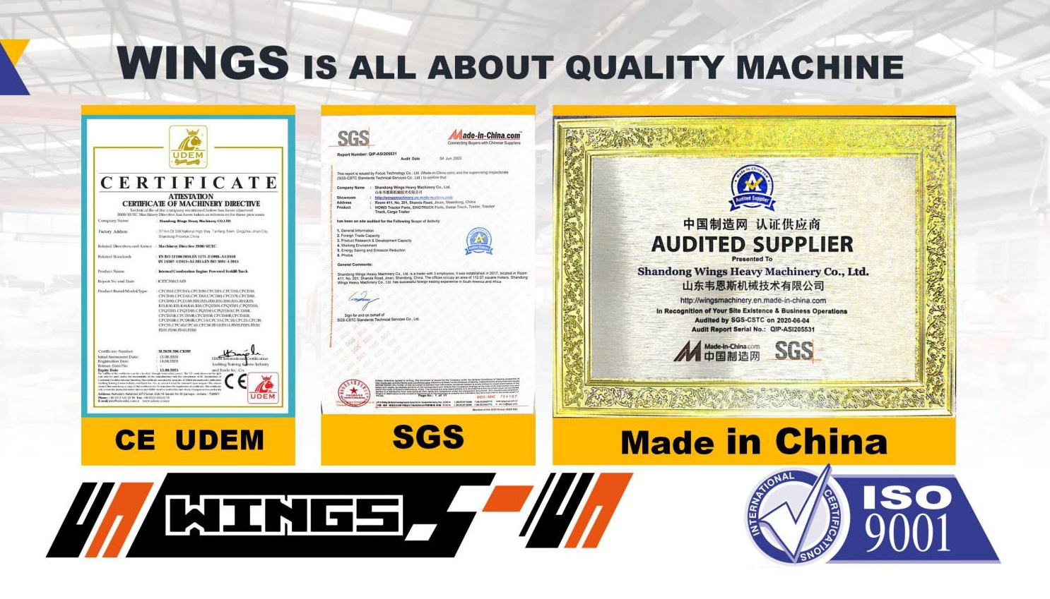 WINGS MACHINERY QUALITY