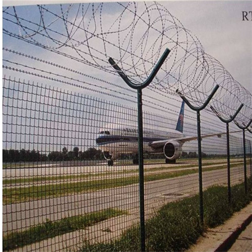 High quality Y shape PVC coated airport security fence