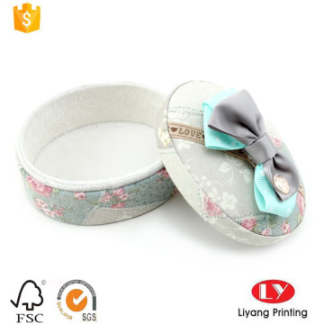 round fabric covered gift packaging box