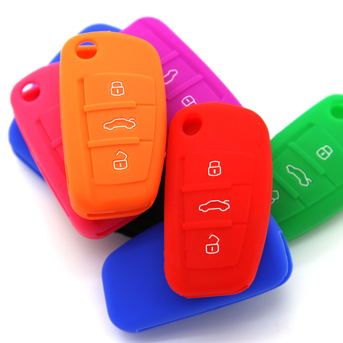 3 Buttons Silicone Key Cover Audi
