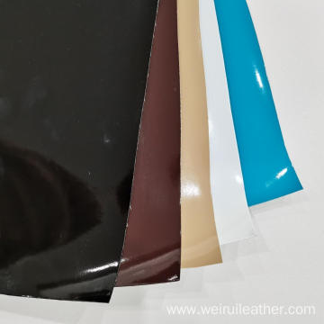 Plain Mirror PU Leather With TC Backing