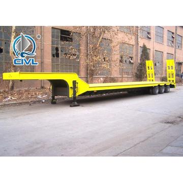 3 Axles Lowbed Semi Trailer for Equipment Transport