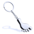 New Fashion Style Cute Foot Design Metal Keychain