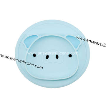 Baby silicone feeding mat silicone placemat with bowl