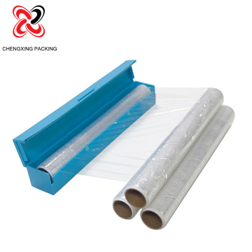 100% New Material Plastic Cling Film With Cutter