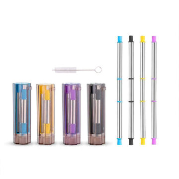 Travel Stainless Eco Foldable Drinking Straws with Case