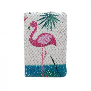 FLAMINGO SEQUINS NOTEBOOK- 0