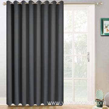 Dark Grey Sliding Door Curtains