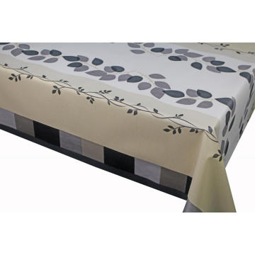 Elegant Tablecloth with Non woven backing with Zipper