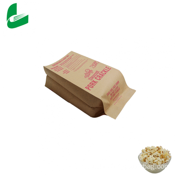 Brown kraft paper microwavable popcorn bags