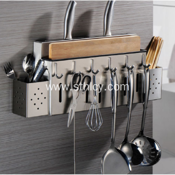 Wall Mounted Stainless Steel Storage Rack