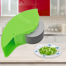 Multi-Function Roller Cutting Garlic Onion Cutter Manual Hand Scallion Cutter Slicers 6Blade Kitchen For Cutting Fresh Noodles.