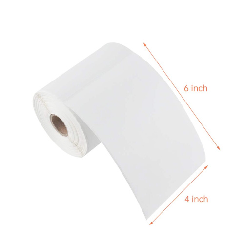 Custom 4x6 blank adhesive direct thermal labels roll
